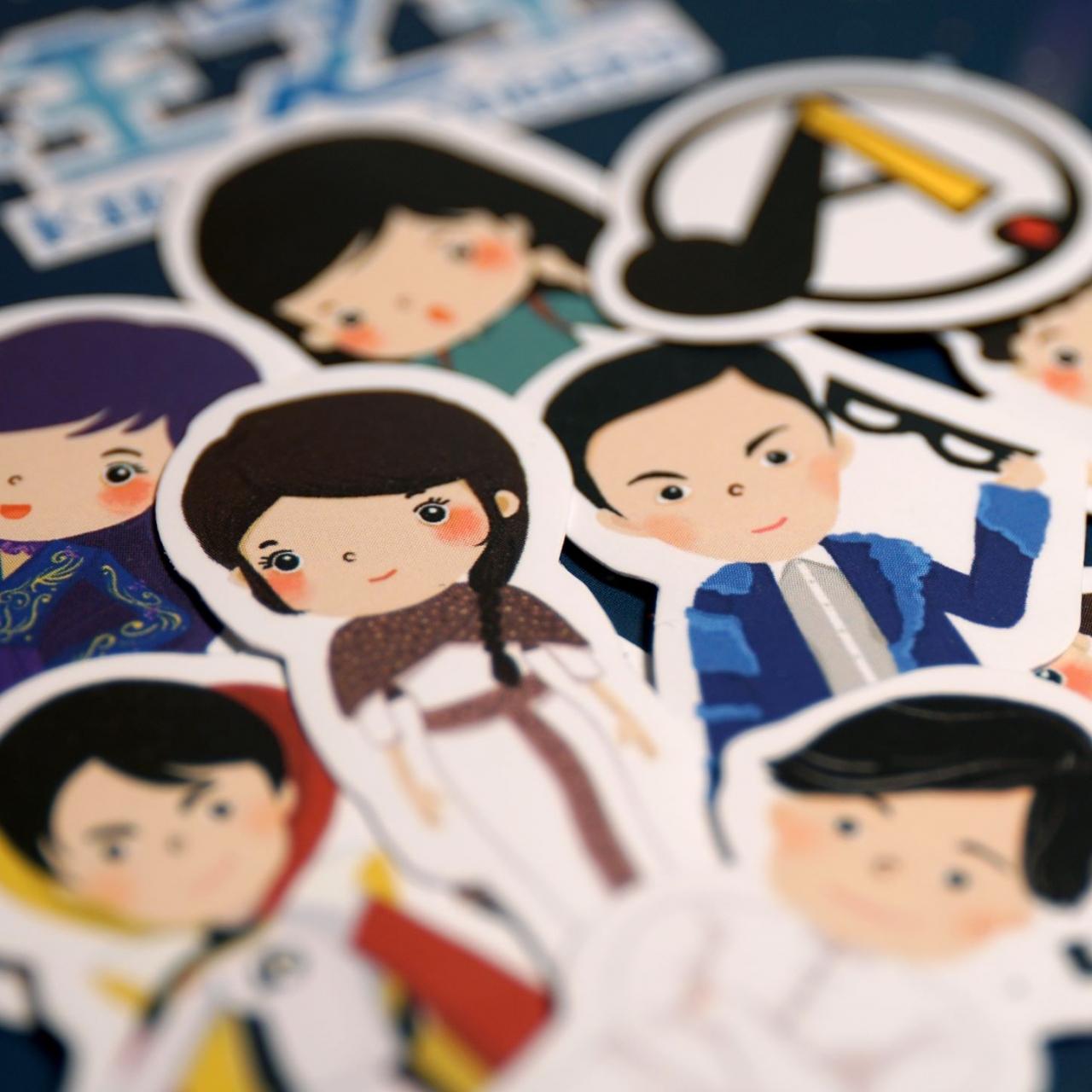 King of Singers Cartoon Stickers